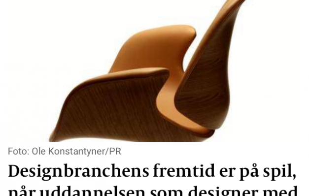 Kronik: Nu bliver en stor del af design branchen jordet.